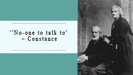 Non-one to talk to - Constance Wilde.